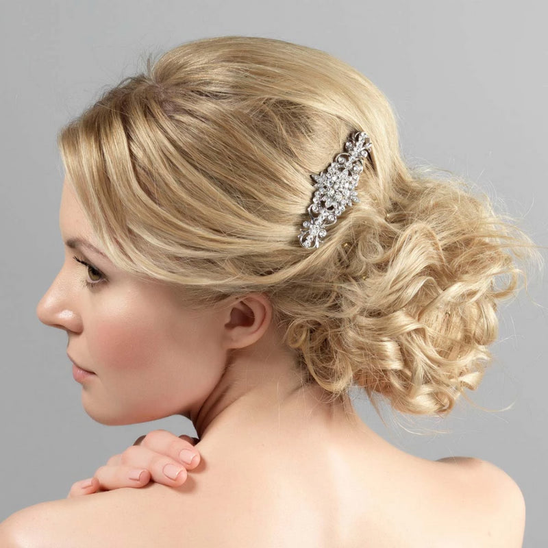 Antique Delight Floral Bridal Hair Comb