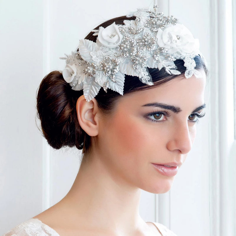 Beautiful Romance Vintage Floral Bridal Headpiece
