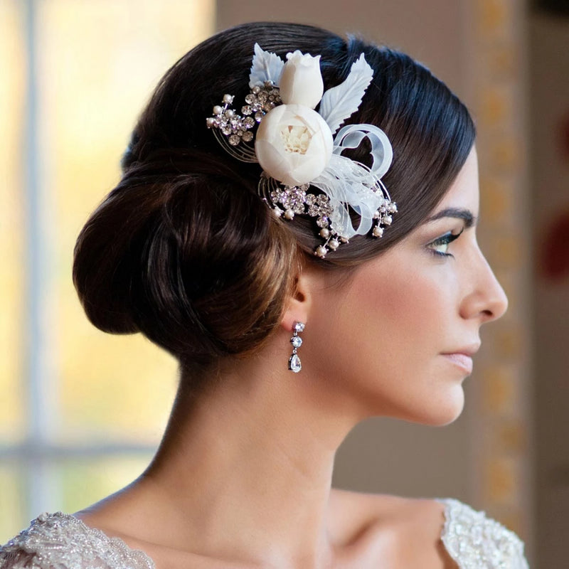 Blooms and Ribbons Bridal Hair Flower