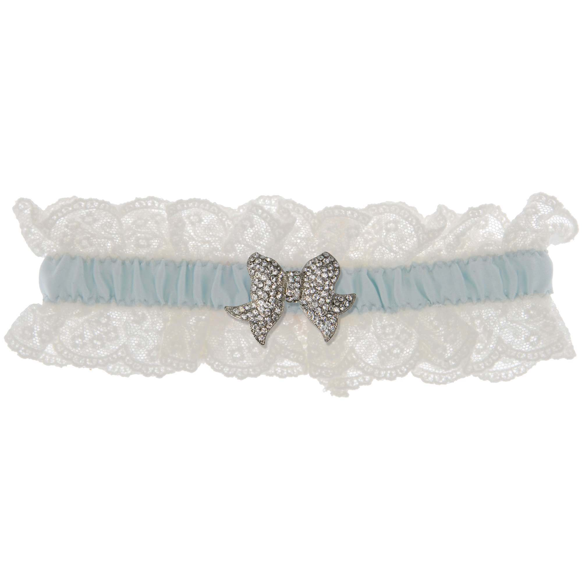 Blue Belle Wedding Garter - Ivory