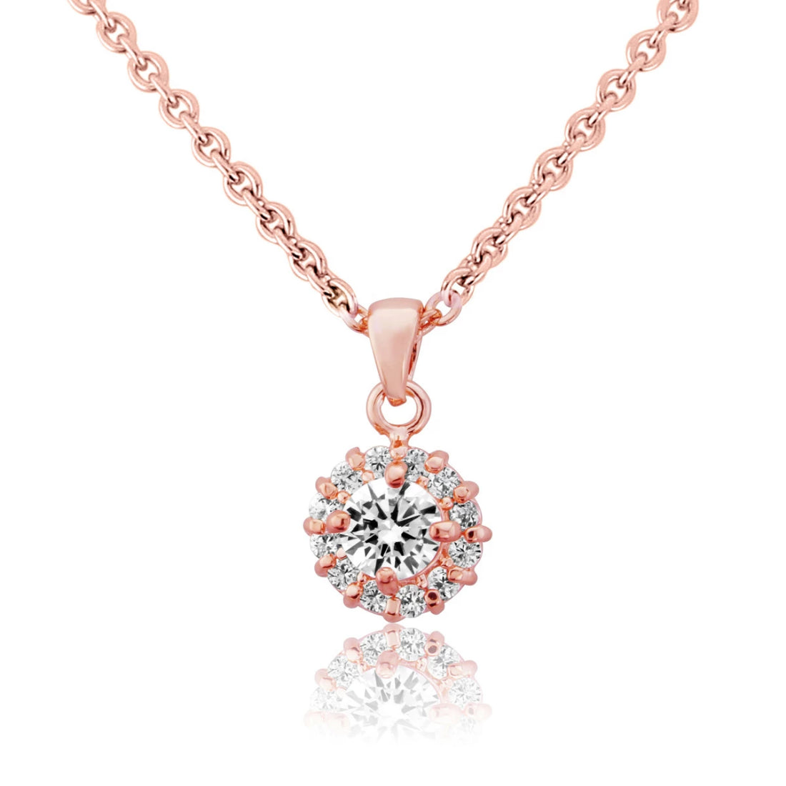Blush of Eternity Cubic Zirconia Pendant