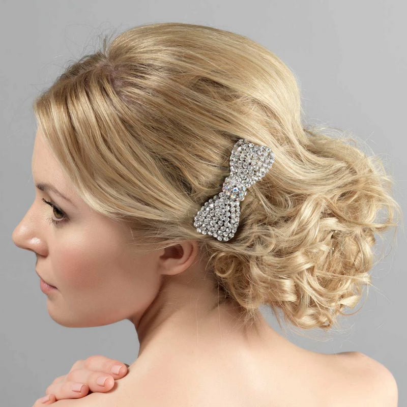 Bow Belle Crystal Hair Comb