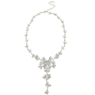 Butterflies of Beauty Crystal Y Necklace