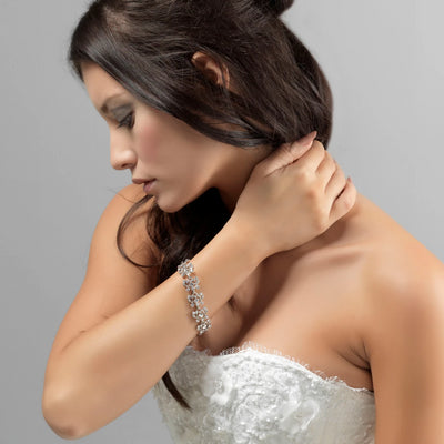 Model wears Bygone Beauty Crystal Bracelet