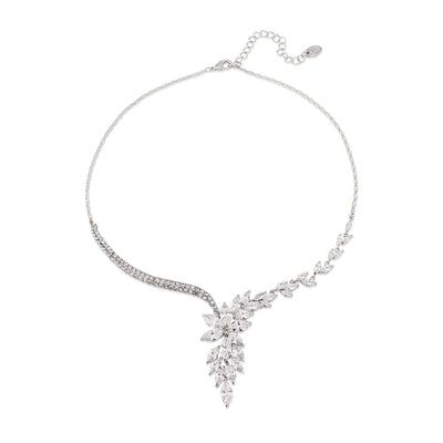Cascades of Crystal Wedding Necklace