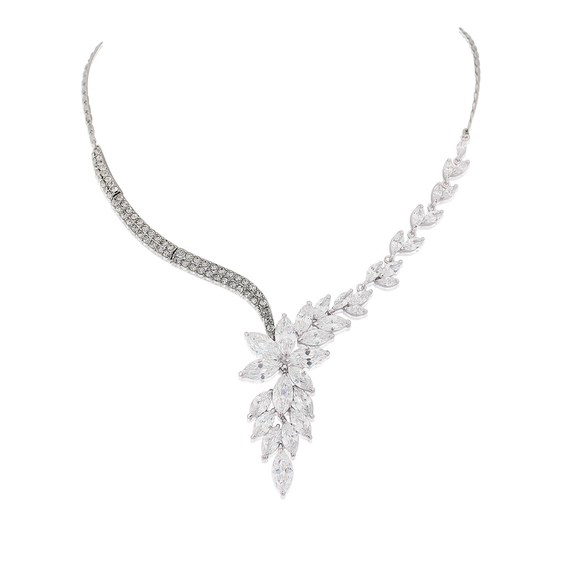 Cascades of Crystal Bridal Necklace
