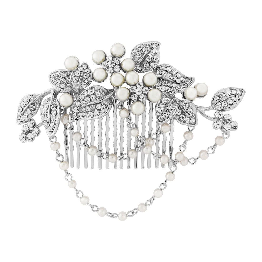 Cascades of Pearl Wedding Hair Comb