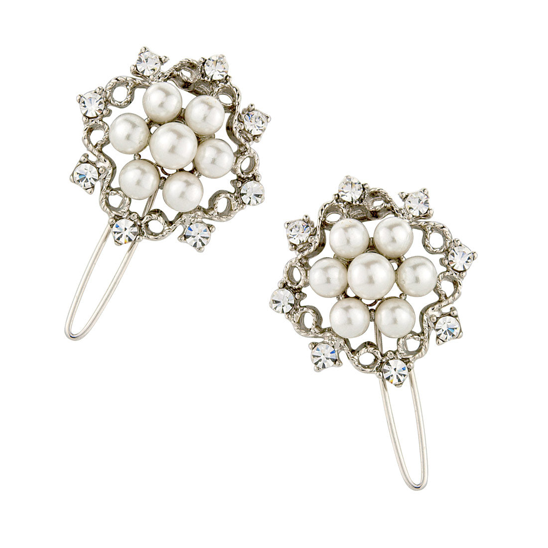 Charming Pearls Wedding Hair Slides