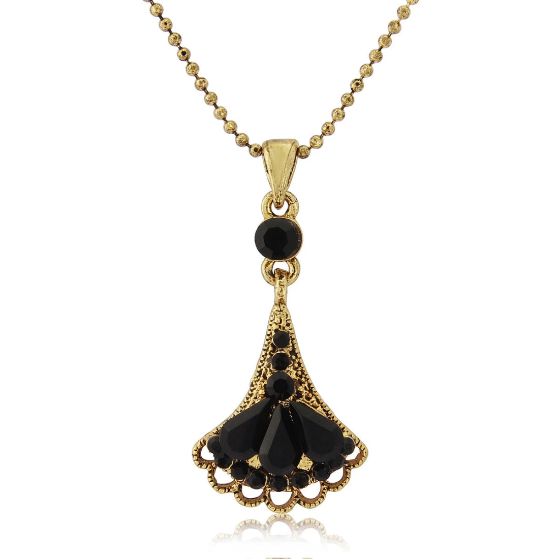 Decadence of Deco Black & Gold Pendant