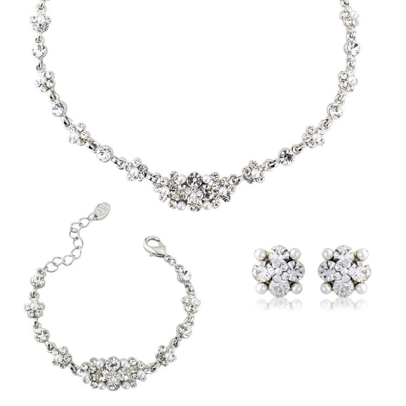 Delicate Pearl Bridal Jewellery Set