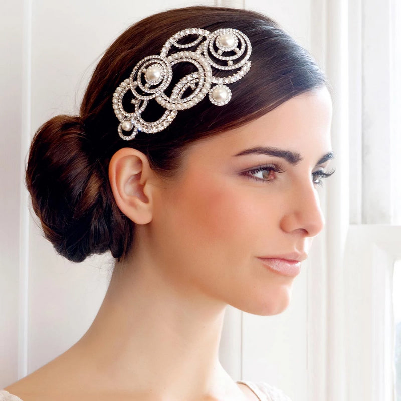 Divine in Art Deco Wedding Headpiece