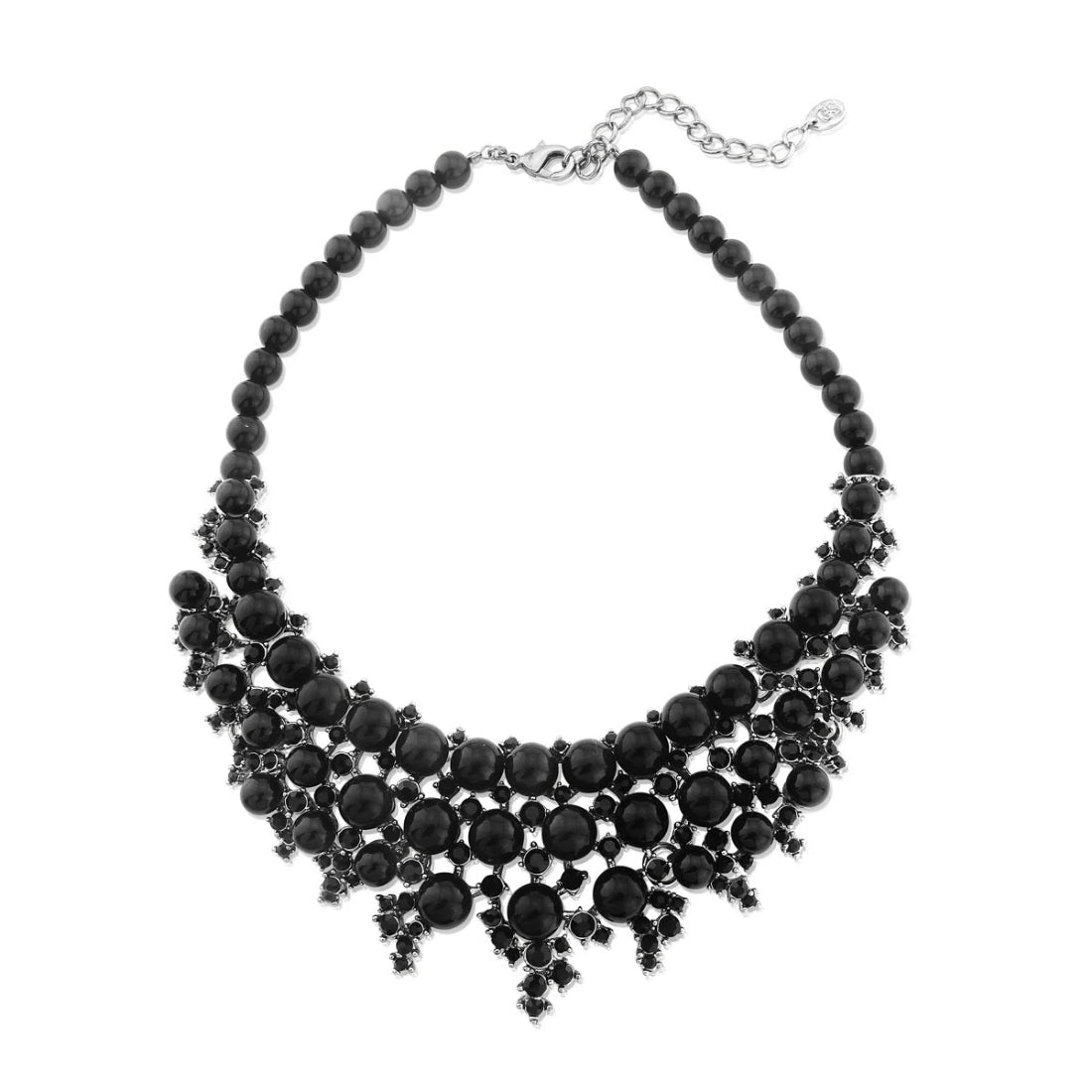 Drama of Jet Statement Collar Necklace