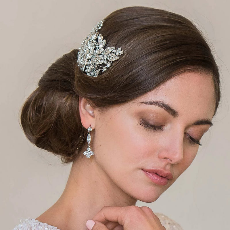 Droplets of Sparkle Drop Bridal Earrings