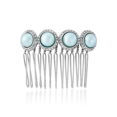 Duck Egg Dream Blue Pearl Hair Comb