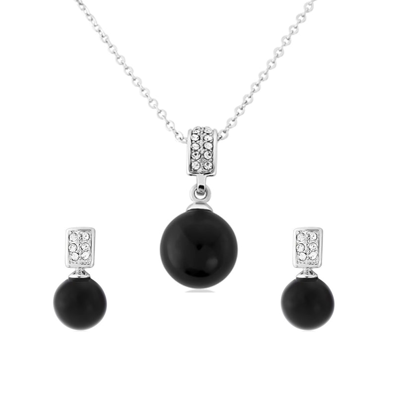 Ebony Elegance Black Fashion Jewellery Set