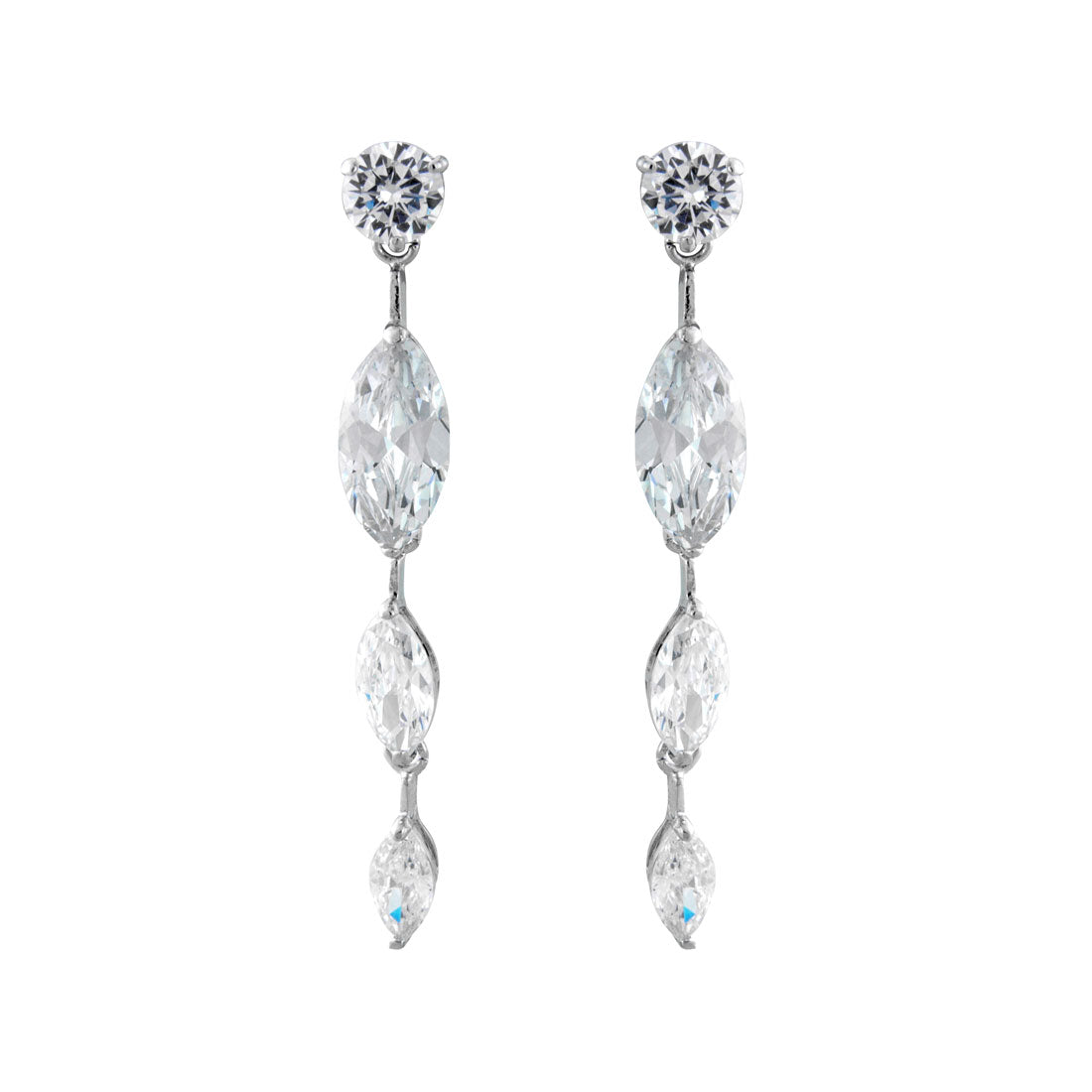 Glitz Glam Blue Diamontrigue Jewelry: Elegance Of Glamour Earrings