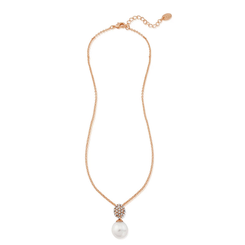 Elegance of Rose Gold Pearl Bridal Pendant