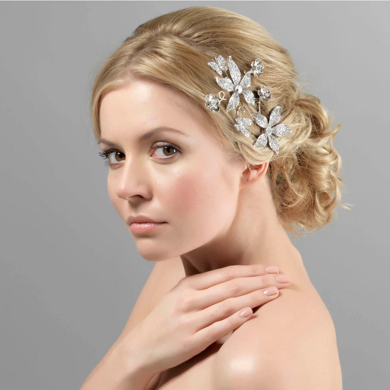 Enchanting Beauty Crystal Flower Wedding headpiece