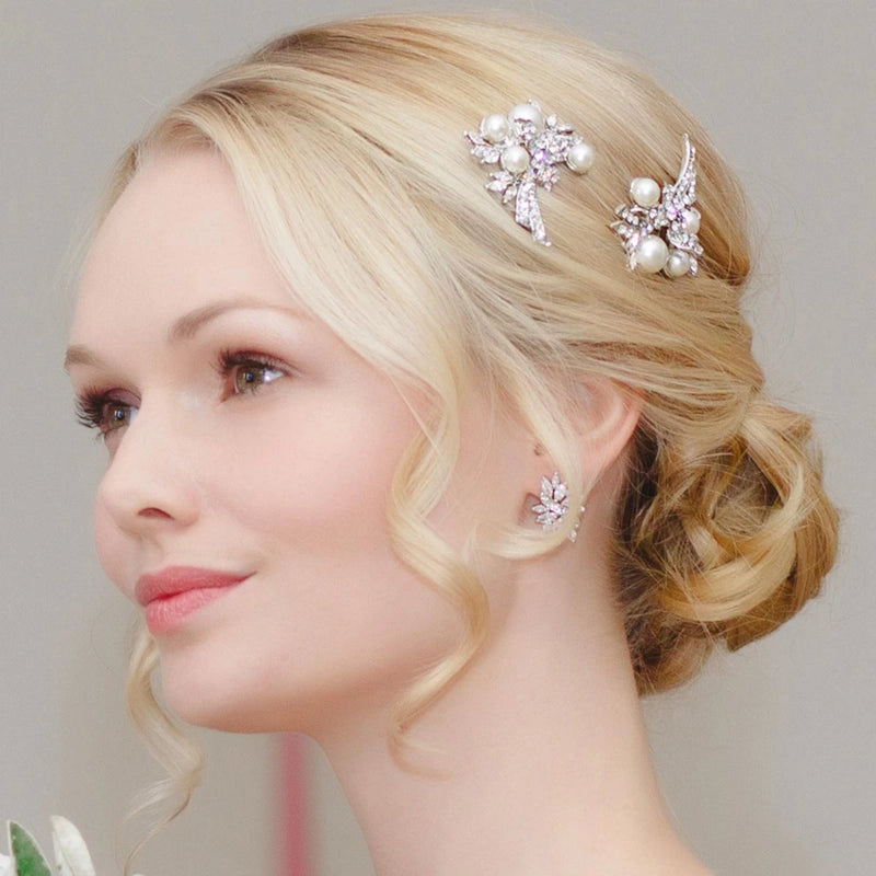 Enchanting Pearl Wedding Hair Pins