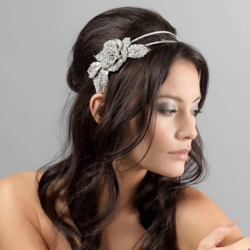 Eternal Rose Vintage Style Side Tiara
