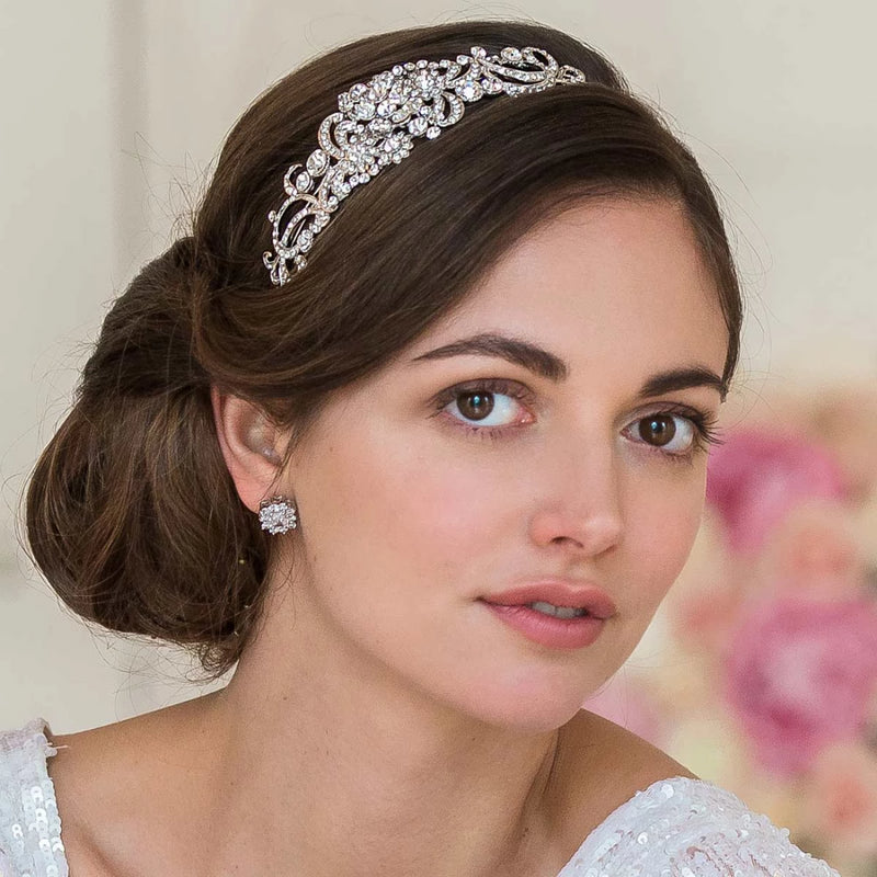 Exquisite Charm Crystal Side Tiara