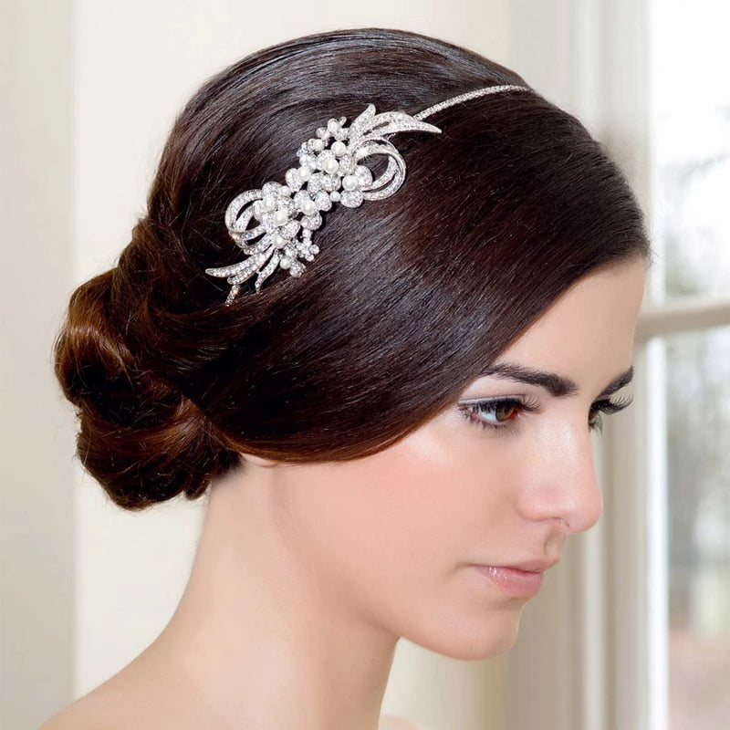 Exquisite Enchantment Ribbon Side Tiara