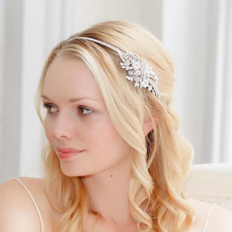 Exquisite Starlet Vintage Style Crystal Side Tiara