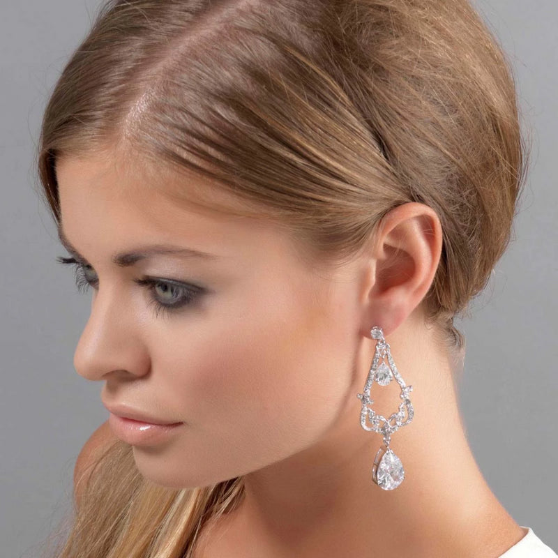Extravagant Elegance Crystal Chandelier Earrings