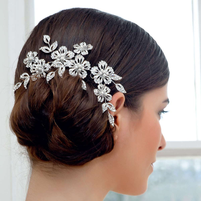 Garland of Romance Floral Bridal Headpiece