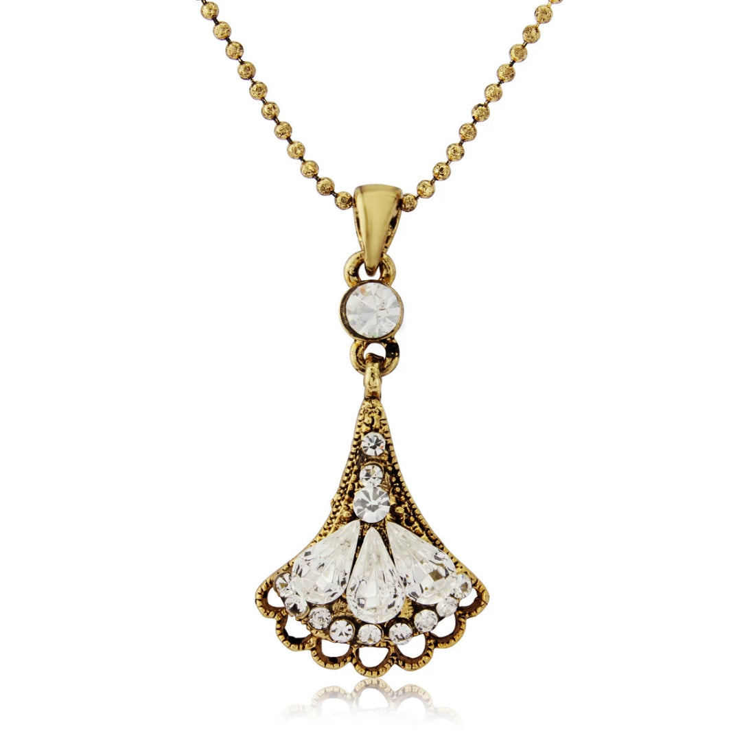 Glamour of Deco gold crystal pendant