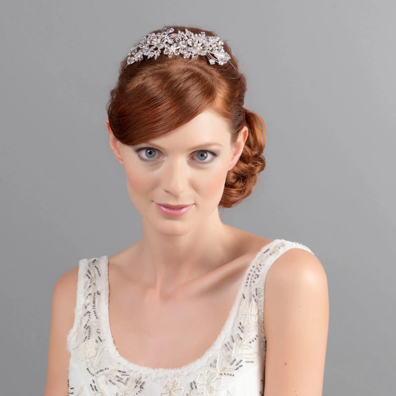 Graceful Bouquet Floral Bridal Tiara