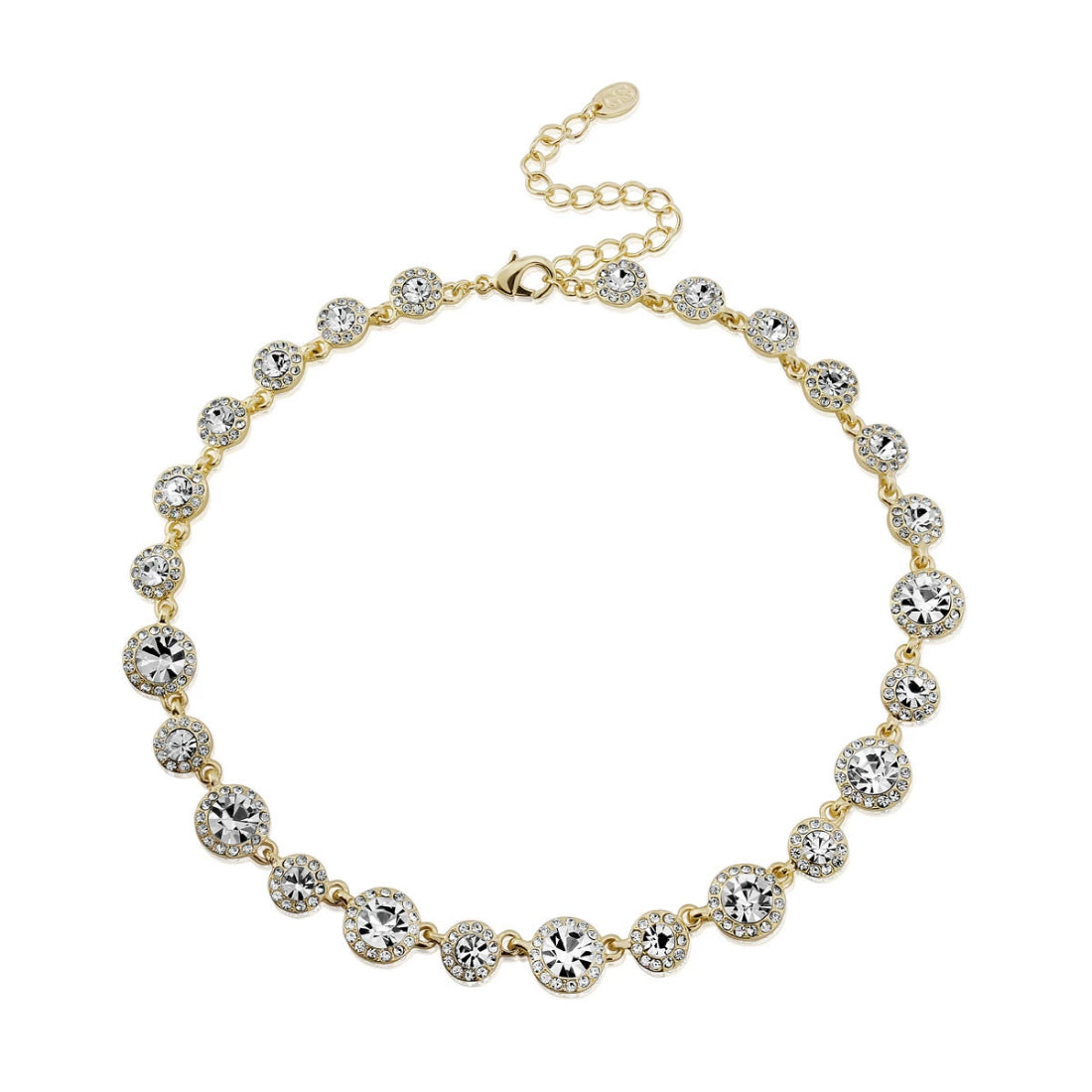 Graceful in Gold Crystal Collar Necklace