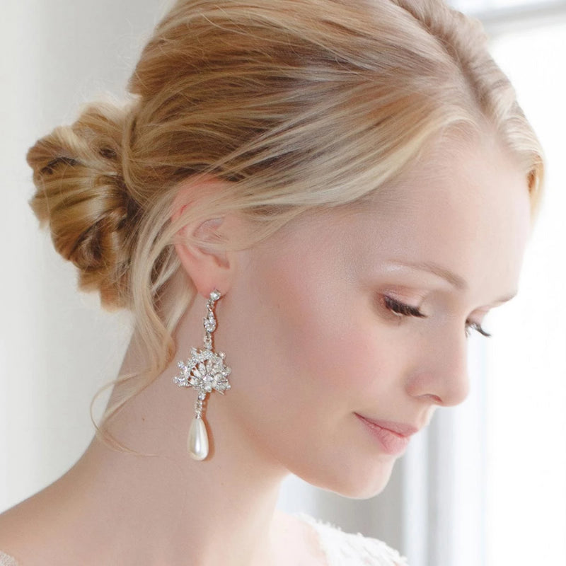 Heirloom Fan Drop Pearl Earrings