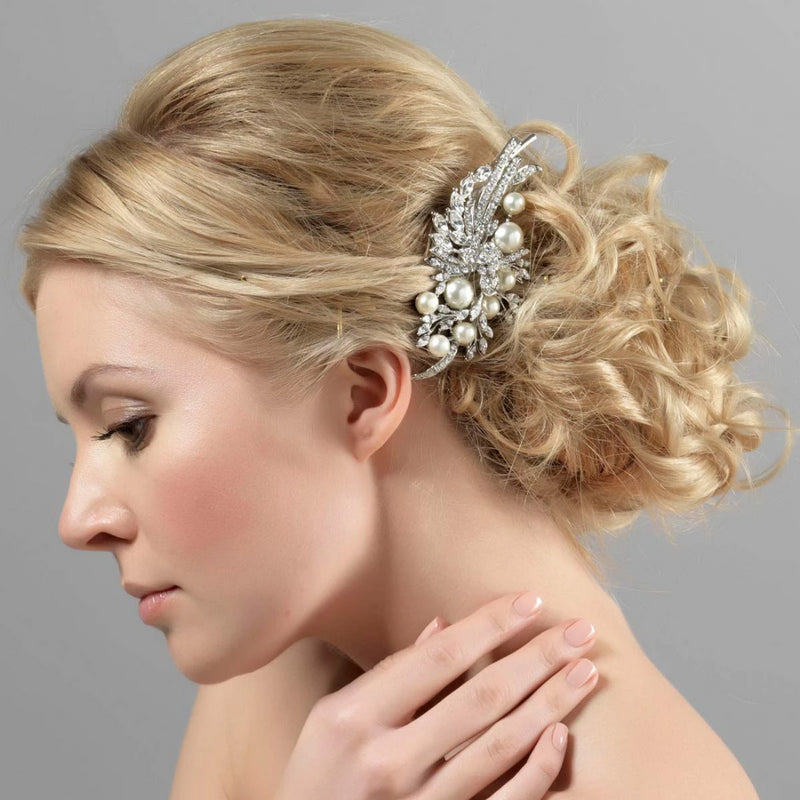 Heirloom Sensation Pearl and Crystal Headpiece