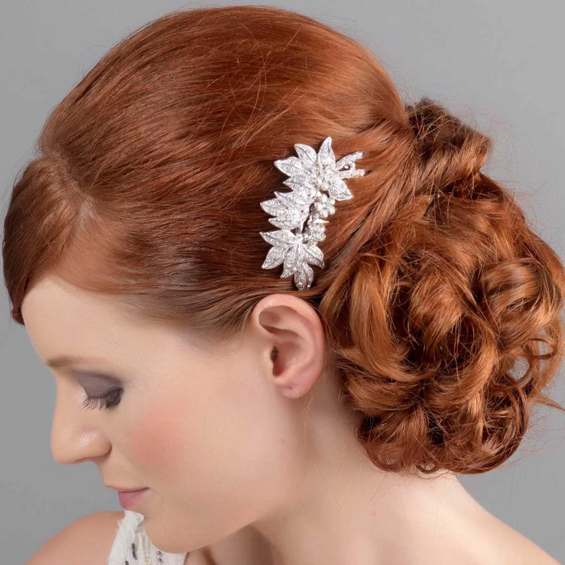 Leaves of Beauty Silver Wedding Hair Comb