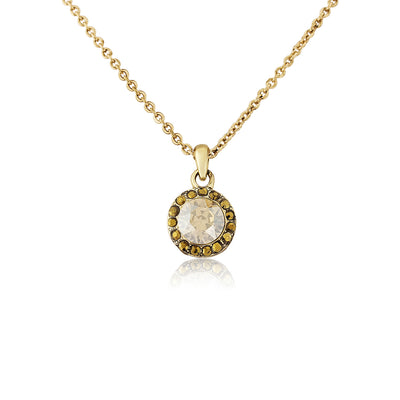 Luxe Treasure Gold Crystal Pendant