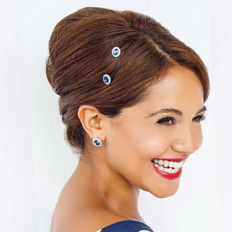 Moonlight Shimmer Navy Crystal Hair Pins
