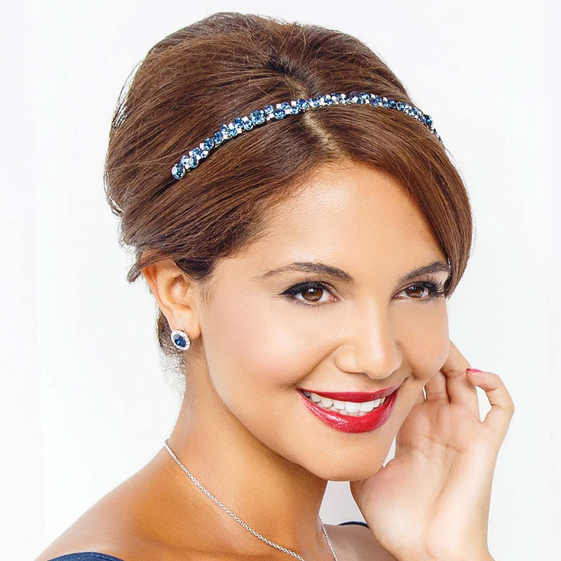 Moonlight Shimmer Navy Crystal Headband