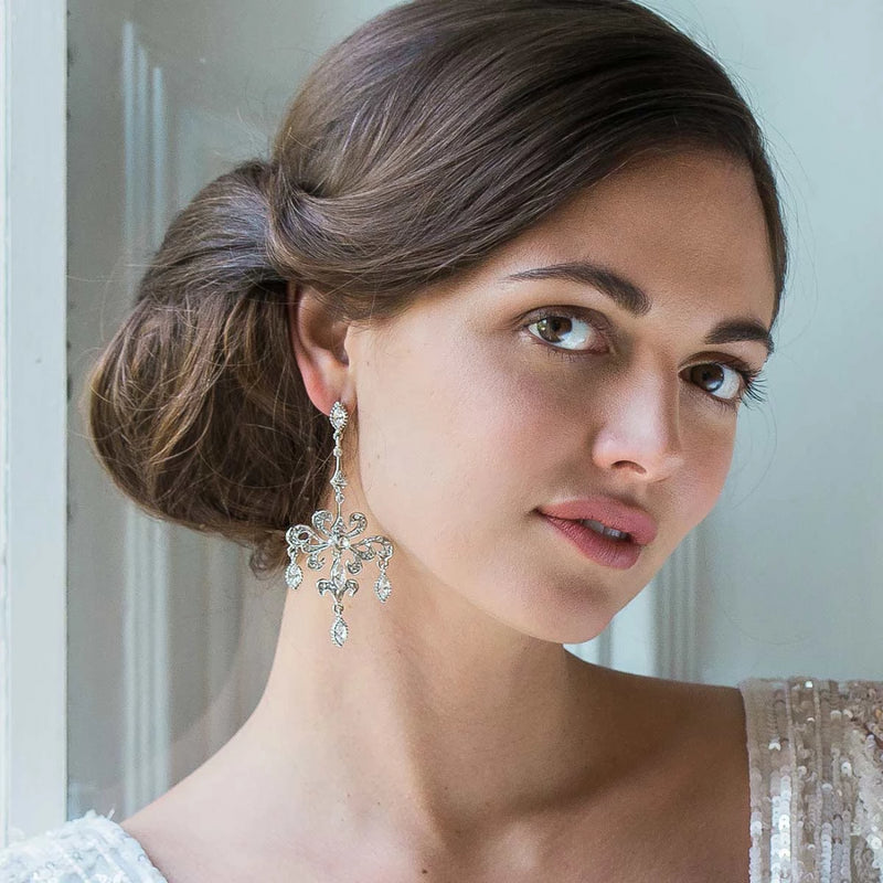 Ornate Heirloom Chandelier Earrings
