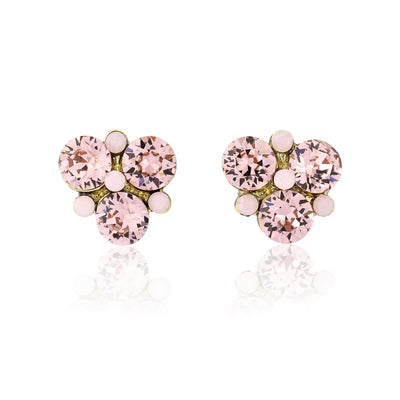 Paradise Pink Crystal Stud Earrings