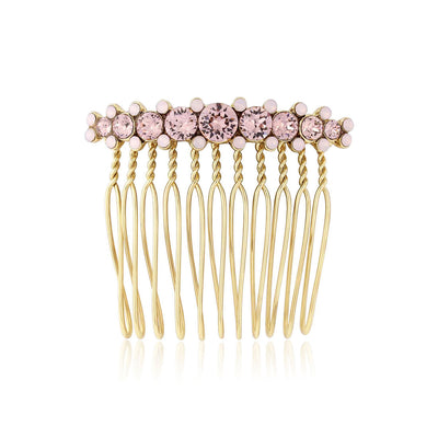 Paradise Pink Gold Wedding Hair Comb