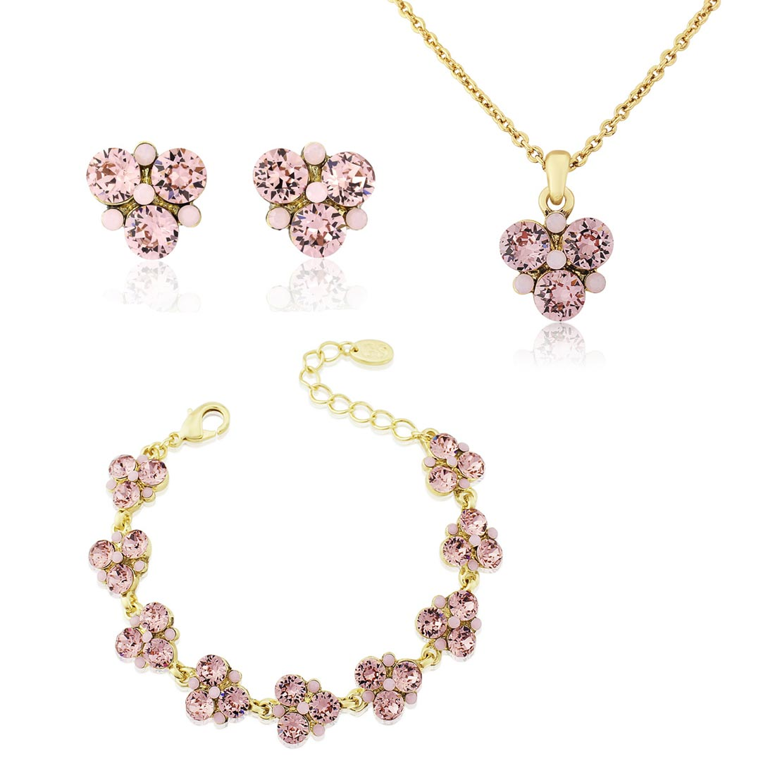 Paradise Pink Gold Jewellery Set