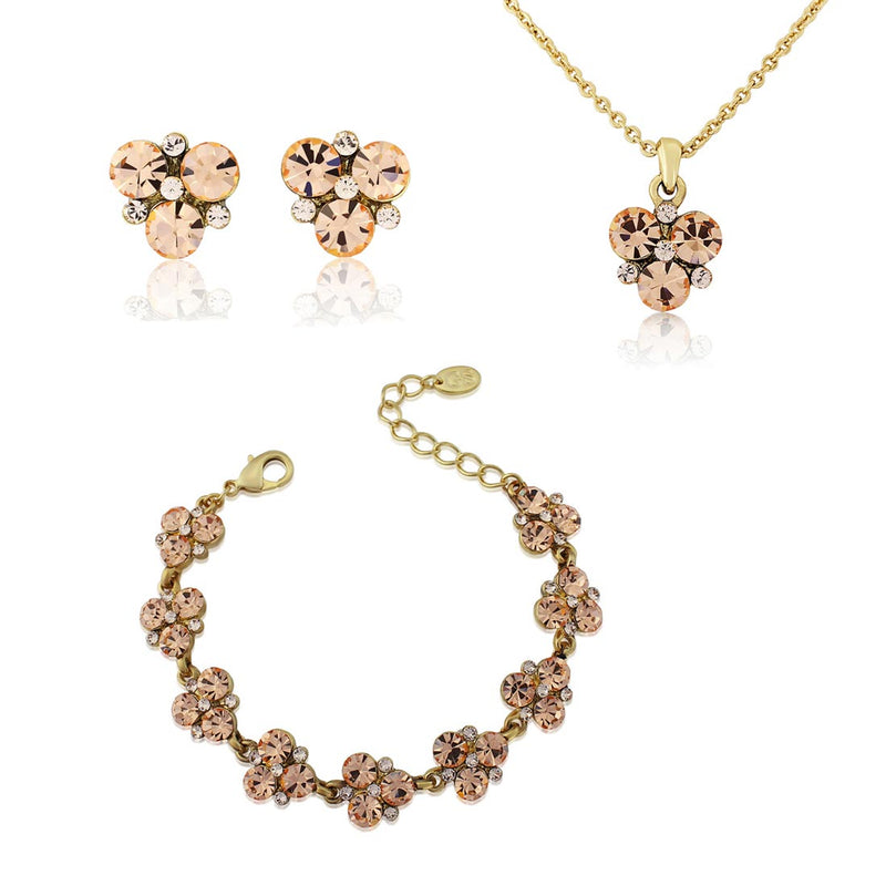 Peach Passion Gold Jewellery Set