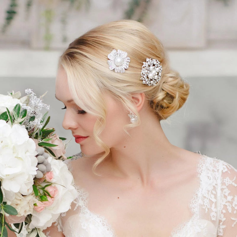 Pearl Allure Wedding Hair Slide