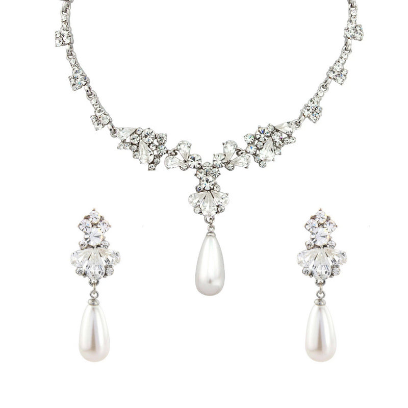 Pearl Heiress Statement Clip On Earring Jewellery Set