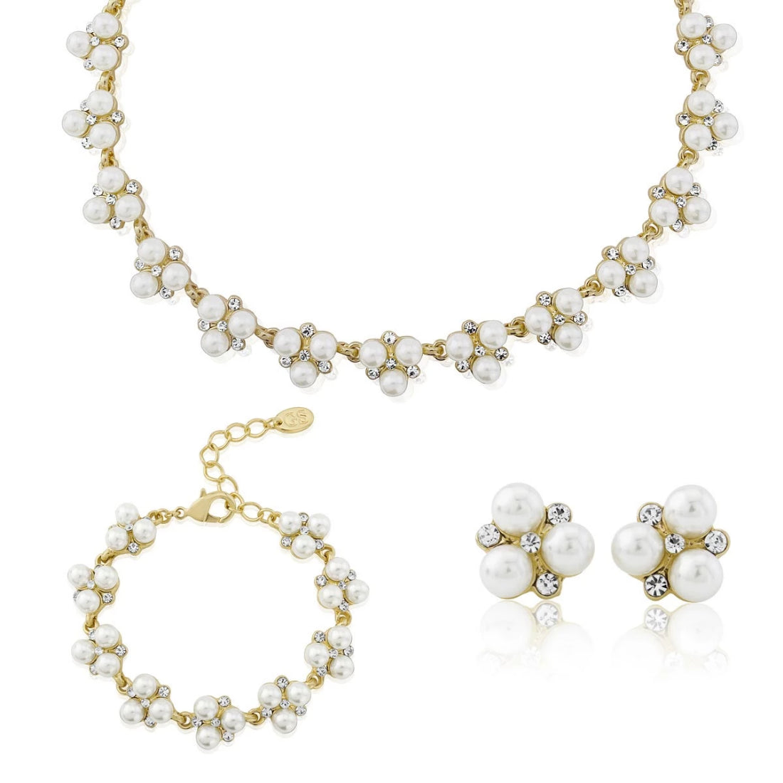 Pearls of Gold Wedding Jewellery Set