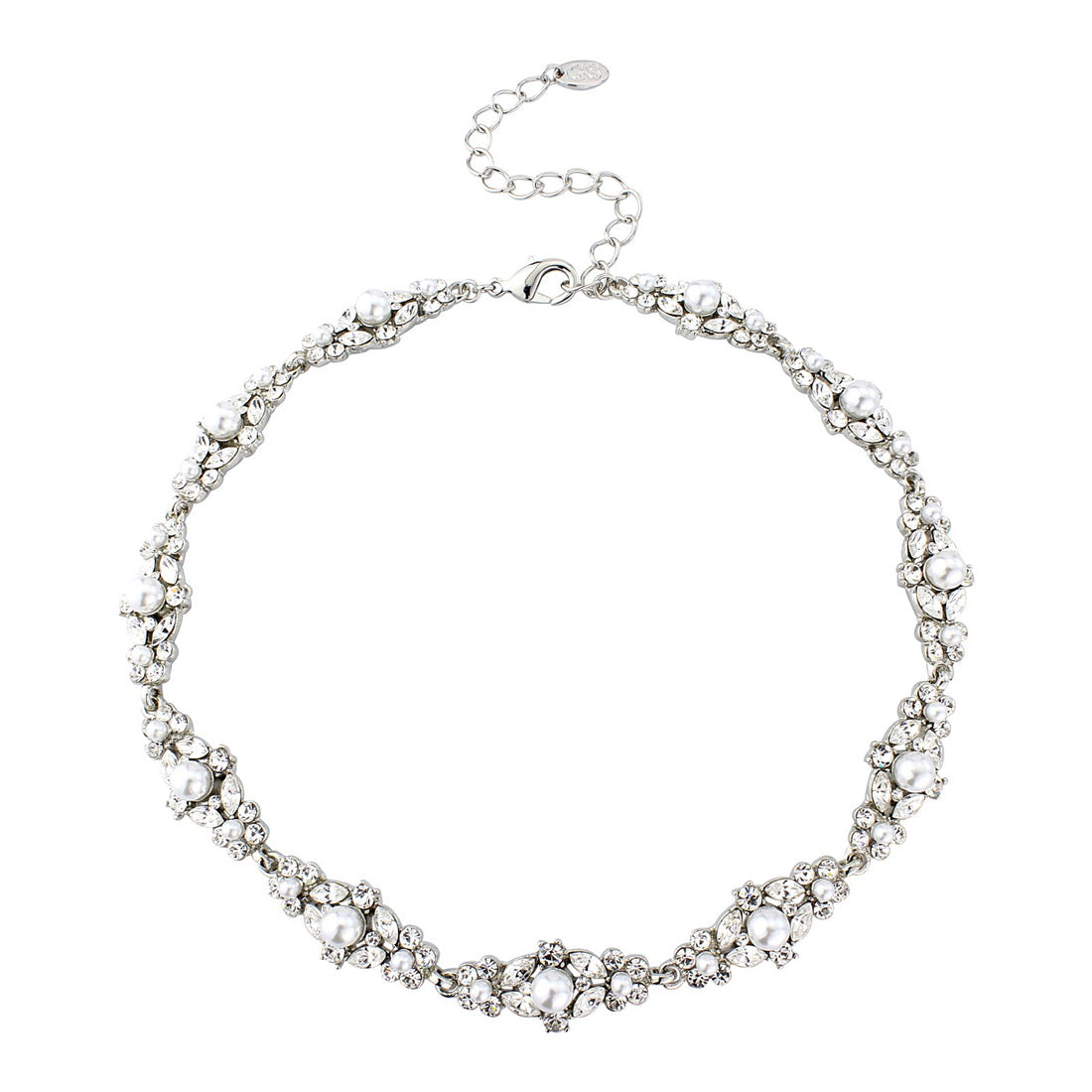 Pearls of Splendour Wedding Collar Necklace