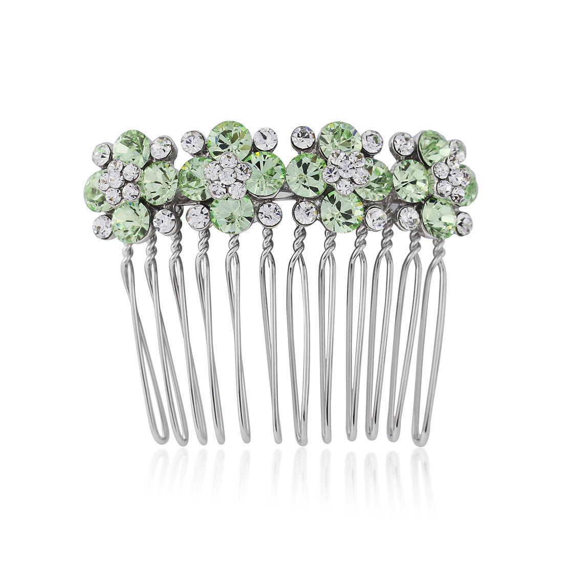 Peppermint Dream Green Crystal Hair Comb