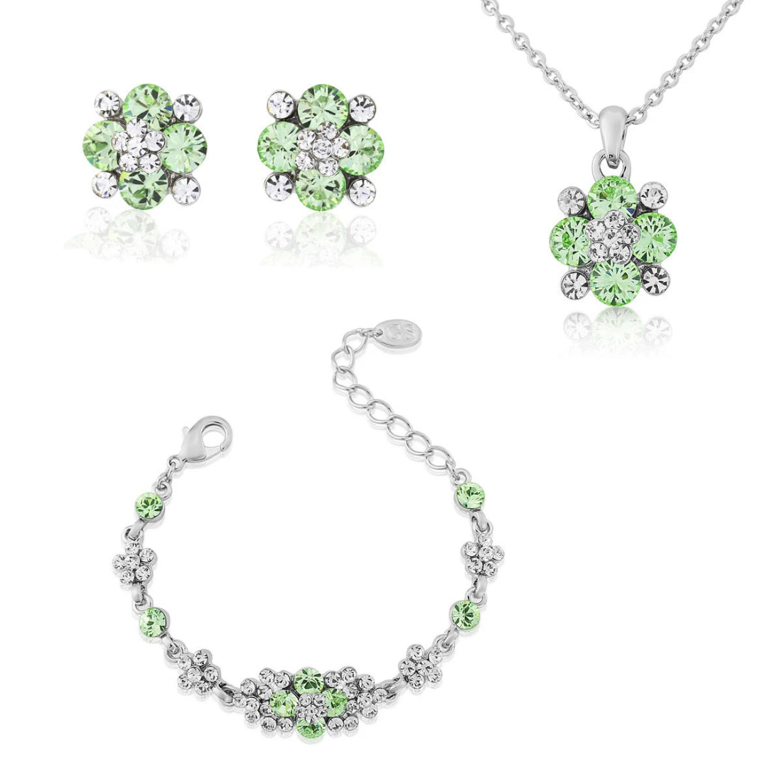 Peppermint Dream Green Crystal Jewellery Set