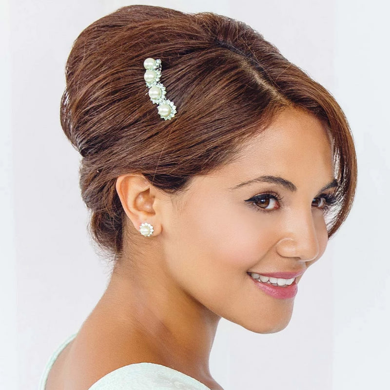 Perfect Pistachio Green Pearl Hair Comb